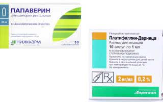 Можно ли принимать вместе папаверин и платифиллин?