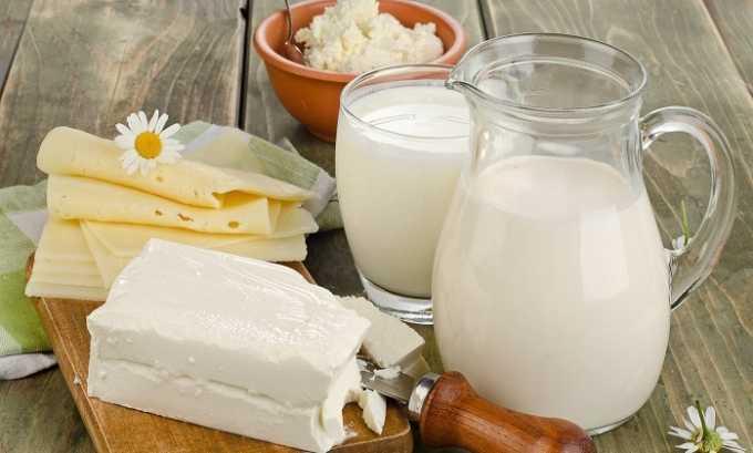 В диетическое меню не должны входить молочные продукты повышенной жирности
