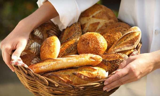 При острой форме заболевания следует ограничить употребление хлебобулочных изделий