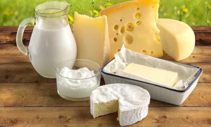 Кисломолочные продукты должны иметь низкий процент жирности, не чаще 2 раз в неделю