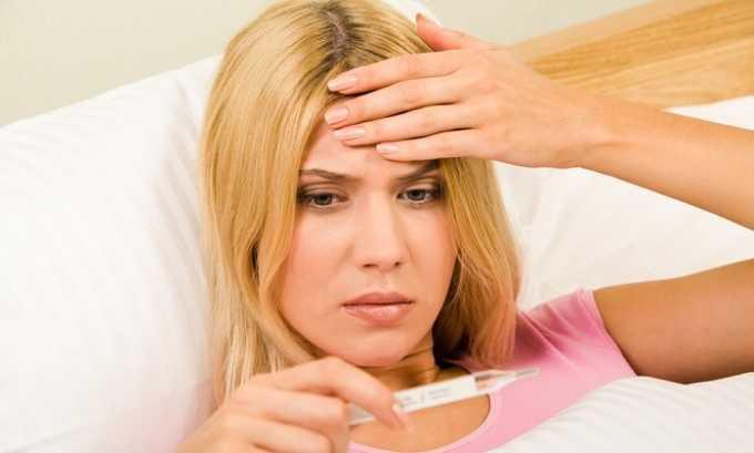 Температура тела у больного может повыситься до 38°С
