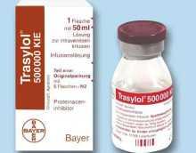 Как принимать Трасилол при панкреатите?