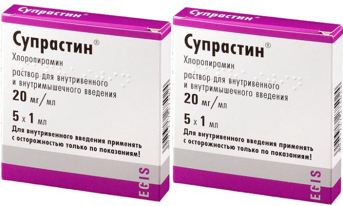 Во избежание аллергических реакций в схему лечения вводятся антигистаминные и десенсибилизирующие лекарства, например, Супрастин