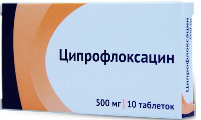 Антибиотикотерапия (Ципрофлоксацин) для предотвращения потенциальных проблем, связанных с присоединением вторичной инфекции
