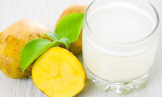 Картофельный сок обладает сильными заживляющими и противовоспалительными свойствами