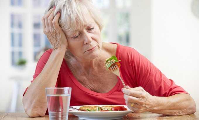 При остром отечном панкреатите может быть недостаточное поступление ферментов в 12-перстную кишку, из-за этого происходит отсутствие аппетита