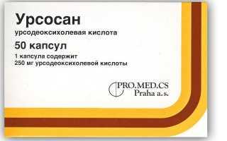 Препарат Урсосан при панкреатите