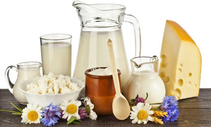 Нежирные молочные продукты разрешены к употреблению