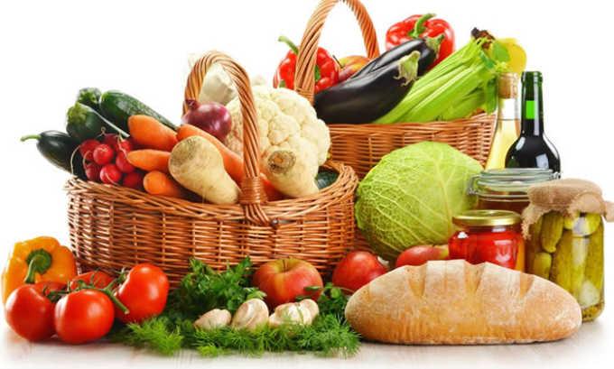 Овощи также могут входить в рацион