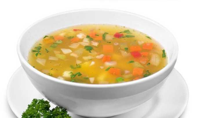 В обед при панкреатите рекомендуется овощной суп