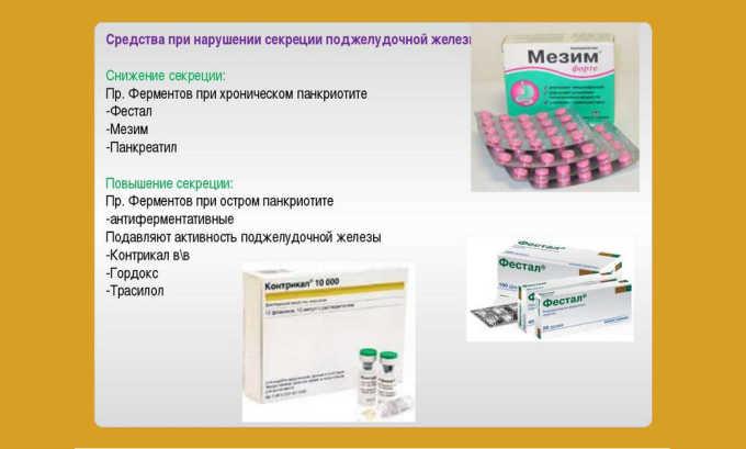 В зависимости от поставленного диагноза врач назначает либо ферменты, либо антиферментные препараты