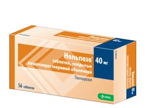 Таблетки Нольпаза при панкреатите