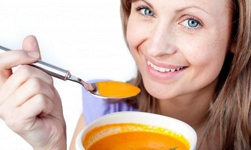 Суп-пюре из тыквы можно есть только после того, как пройдет 3 недели с момента обострения панкреатита
