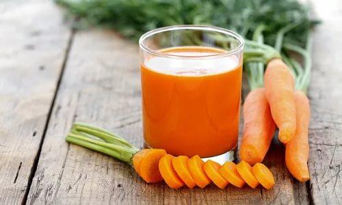 На ужин разрешается выпить морковный сок