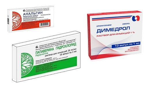 И анальгин, и папаверин, и димедрол - препараты, назначаемые при болевом синдроме, спазмах (желчной, кишечной, почечной колике), повышенной температуре тела