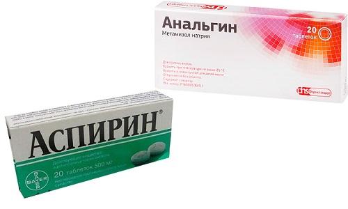 Аспирин и Анальгин применяют для понижения температурных показателей