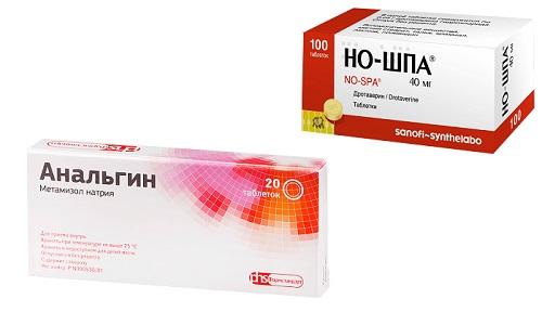 Но-шпа и Анальгин - средства, которые предназначены для устранения болевых и дискомфортных ощущений, спазмов