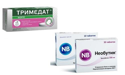 Тримедат или Необутин назначают для лечения синдрома раздраженного кишечника