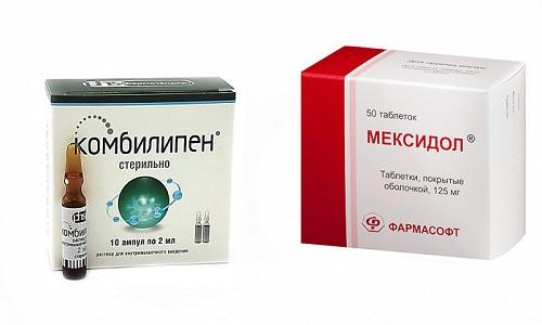 Чтобы восстановить работу нервной системы и кровоток в головном мозге можно использовать препараты Мексидол и Комбилипен