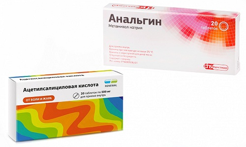 Ацетилка и анальгин от температуры