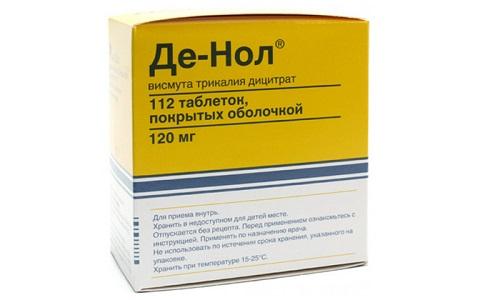 Де-Нол характеризуется противовоспалительным, противоязвенным и антибактериальным воздействиями в желудке и кишечнике