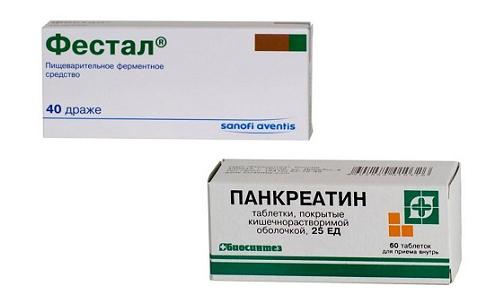 Нормализовать работу желудочно-кишечного тракта помогут препараты Фестал и Панкреатин