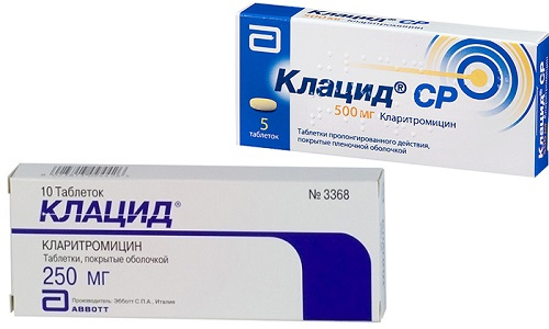 Клацид и Клацид СР используются в составе комплексной терапии при различных инфекционно-воспалительных заболеваниях