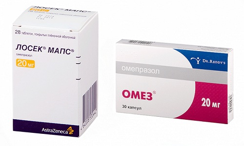 Ингибиторы протонной помпы Лосек Мапс или Омез часто назначаются при гиперацидном гастрите или язве желудка