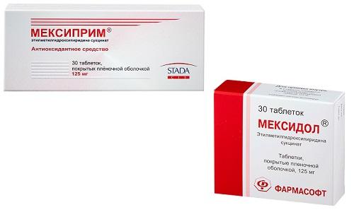 Нейропротекторные препараты Мексиприм или Мексидол назначаются пациентам при проблемах, связанных с нервной системой и метаболическим процессом