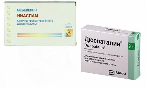 Главным симптомом заболеваний считается боль. Чтобы с ней справиться, врачи советуют принимать спазмолитические средства Ниаспам или Дюспаталин