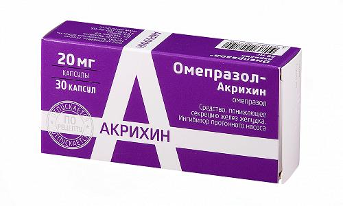 Омепразол Акрихин используют в лечении язвы желудка, язвенного поражения 12-перстной кишки