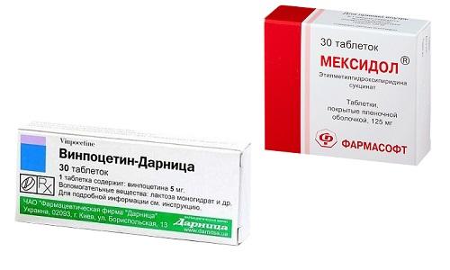 Винпоцетин и Мексидол - препараты, которые обладают сходными действием и эффектом